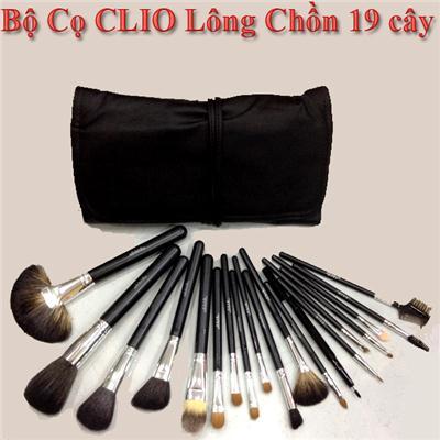 Bộ Cọ Trang Điểm Clio 19 cây lông chồn