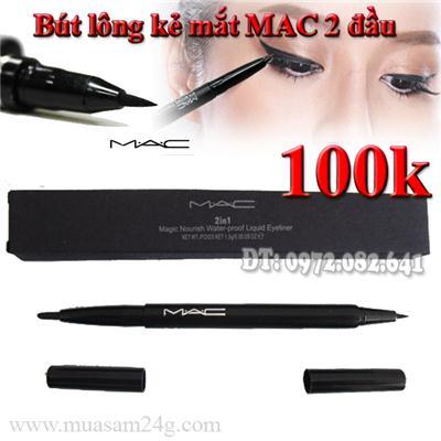 Bút Lông Kẻ mắt MAC 2 Đầu Không Lem