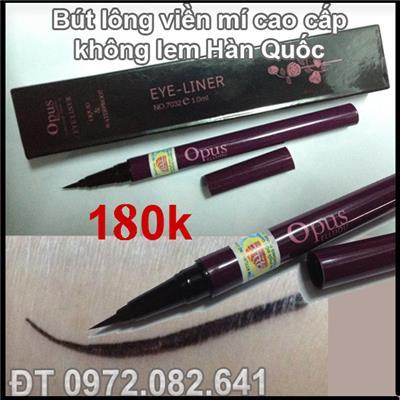 Bút lông kẻ mí bền màu không lem OPUS