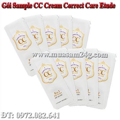 Gói Sample CC Cream Etude (xài 3 mặt)