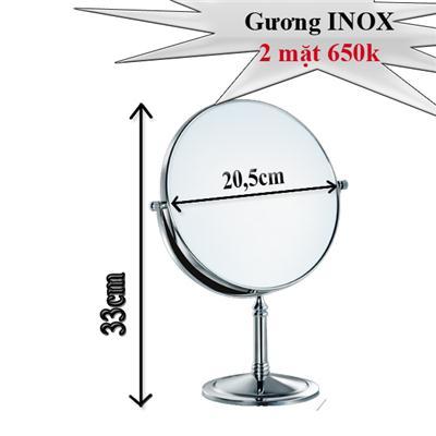 Gương Trang Điểm Để Bàn Loại Lớn Inox Xịn
