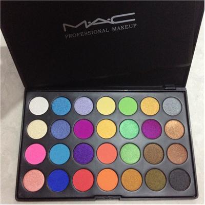 Hộp Màu Mắt MAC 28 ô (màu dạng kem,có ánh nhũ nhẹ)