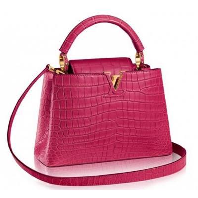 LV Capucines BB màu hồng