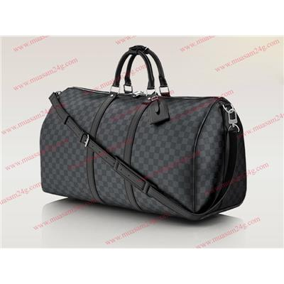 LV Damier Black Keepall N41414