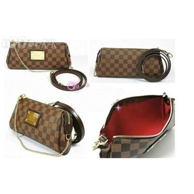 LV Damier Eva Clutch Fake 1