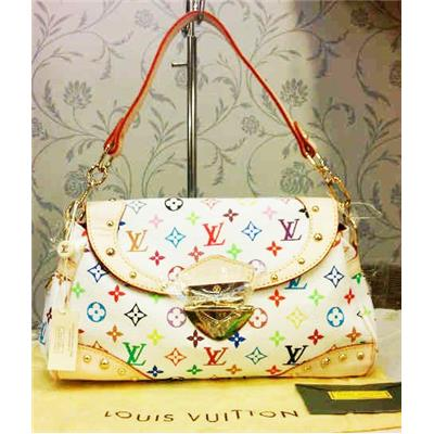 LV Monogram Multicolor White Beverly MM  M40203