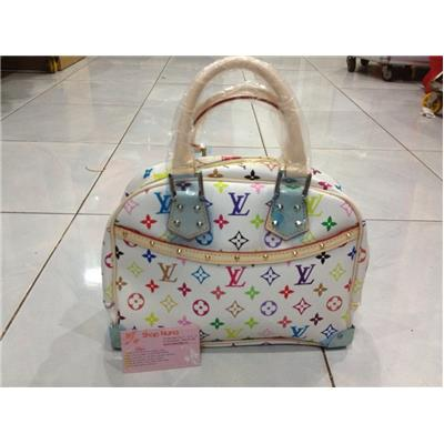 LV Monogram Multicolor White Trouville MM M92663
