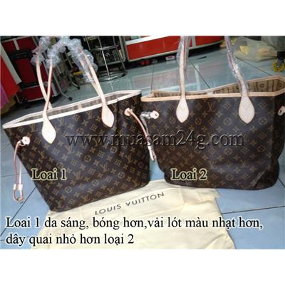 LV Neverfull Bông Nâu (Fake1 & Super)