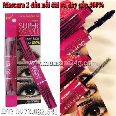 Mascara 2 đầu nối dài và dày 400% Super Moder Mistine