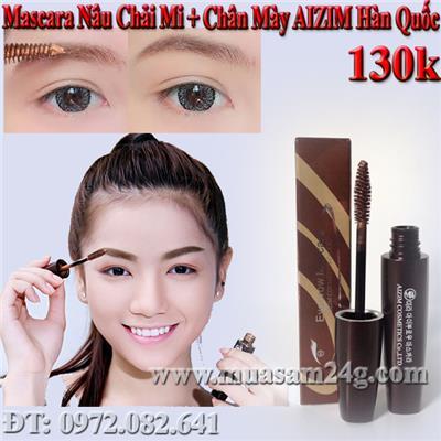 Mascara Nâu Chải Mi và Chân Mày AIZIM Hàn Quốc