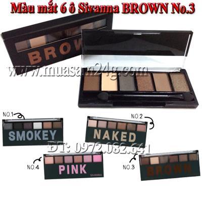 Màu mắt 6 ô Sivanna BROWN No.3