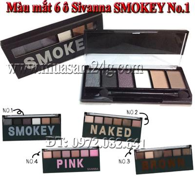 Màu mắt 6 ô Sivanna SMOKEY No.1