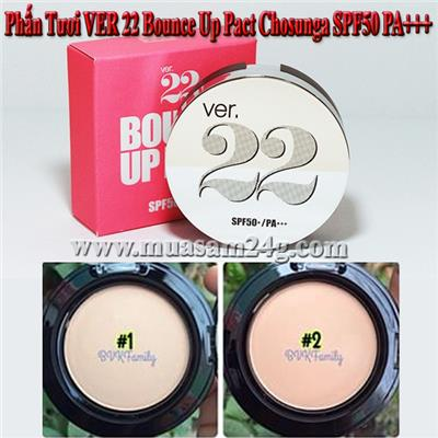 Phấn Tươi VER 22 Bounce Up Pact Chosunga SPF50 PA++
