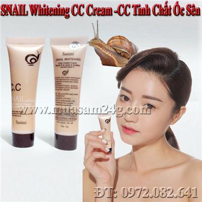 SNail Whitening CC Cream-Kem CC Tinh Chất Ốc Sên 10g